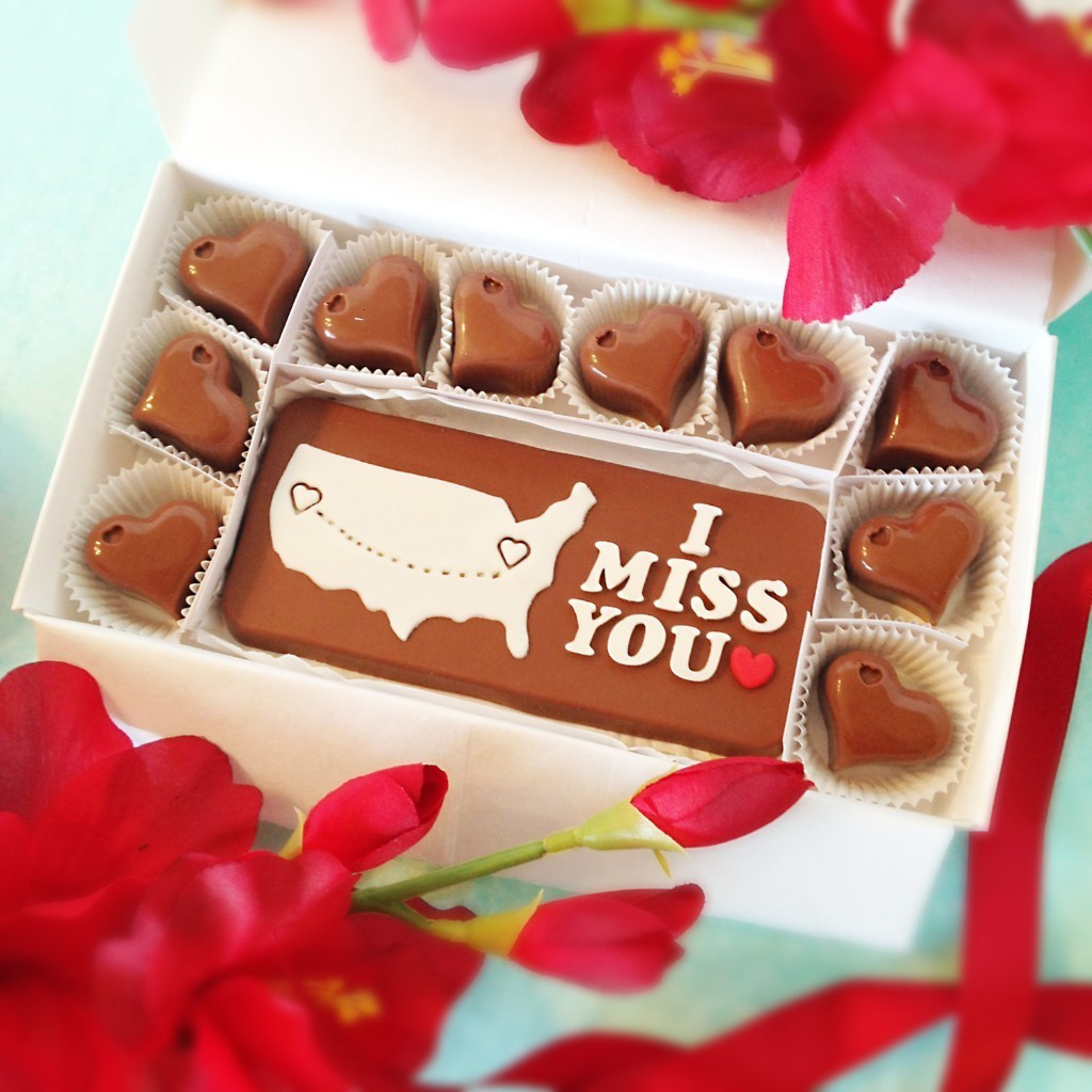 I Miss You Chocolates - Long Distance Relationship - Boyfriend Gift - Girlfriend Gift - Missing You - Separated Love - Distance - Miss BFF