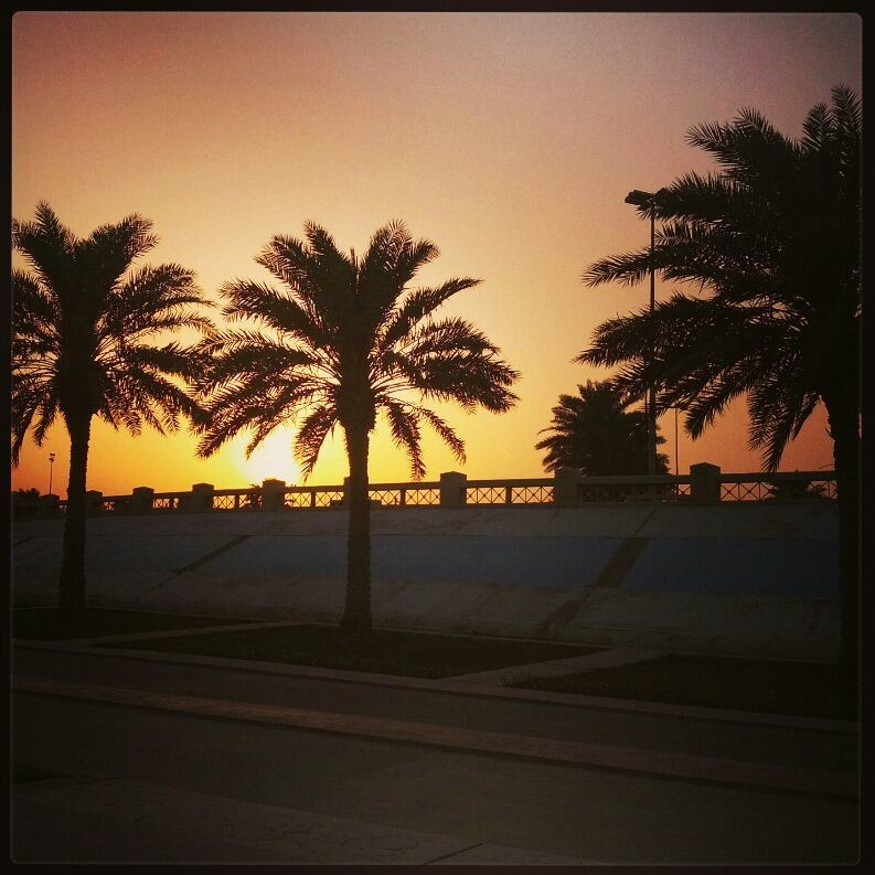 Sunset at cornich al khobar, saudi Arabia