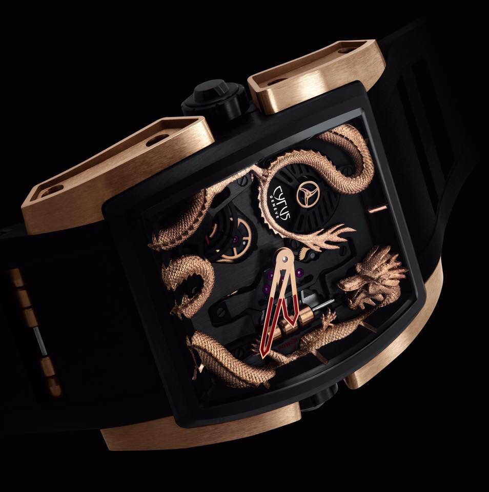 Cyrus Watches A special version of the Kambys collection, pink gold and DLC