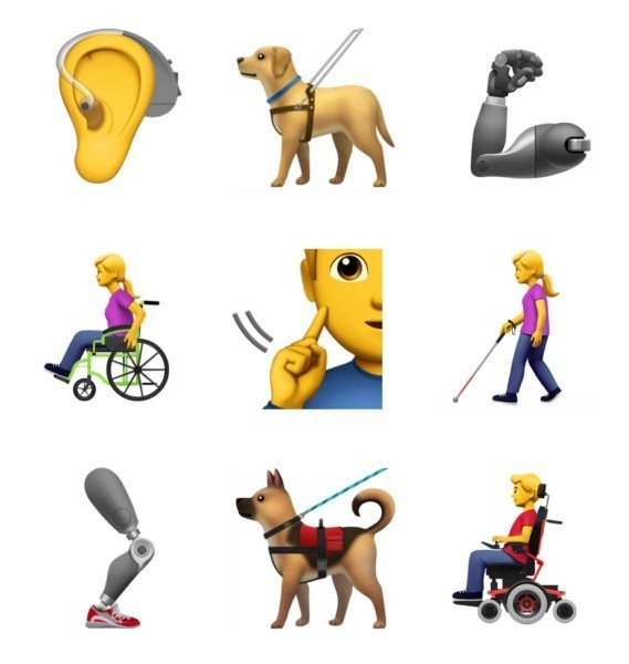 Apple proposes 13 new emoji representing users with disabilities