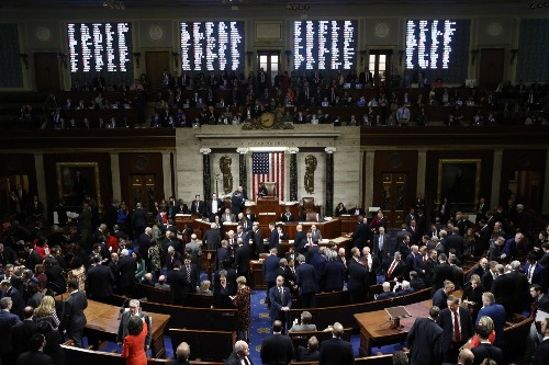 House Votes to Impeach Trump: Pictures