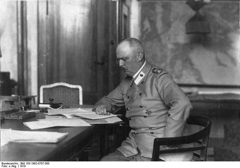 The Great War Diary, Sunday, 31st March 1918: Pictured: General Erich Ludendorff waged war as an end in itself, ignoring Clausewitz's great maxim. WESTERN FRONT: Somme: Battle of Moreuil Wood-A German counter-attack recaptures most of Moreuil Wood, and the nearby Rifle Wood one mile to the northeast. General Seely is given command for a counterattack. The Canadian Brigade attack in three waves, securing their flanks while moving through the wood and engaging the enemy in hand to hand combat. Once the German forces are again driven out, they commence heavy artillery bombardment and several counterattacks, however control of the wood remains with the Allies at the end of the day. To the northeast, Rifle Wood is attacked at 09:00 and by 11:00 is also in Allied hands. By 15:00 the Allied forces are relieved by fresh divisions. However between 1-3 April German forces will regain control of the Moreuil woods and surrounding area. Ludendorff orders major thrust for Amiens once supplies are brought up on April 4th. British capture then lose Hangard; slight French advance between Montdidier and Lassigny. Germans claim 75,000 PoWs and 1,000 guns have been captured since March 21. German Army is now At peak ration strength with 7,917,170 men. SINAI AND PALESTINIAN CAMPAIGN: First Battle of Amman – British forces withdraw from attacking Amman, Jordan and retreat back into the Jordan Valley with a loss of 1,348 casualties. ITALIAN FRONT British Divisions are now holding sectors on Asiago Plateau instead of Montello. EASTERN FRONT: Ukraine: Germans form new Army Group Eichhorn (18 divisions) at Kiev for Ukraine occupation, ChIef of Staff Groener to organise railways; Linsingen removed and Bugarmee dissolved. WAR IN THE AIR: 1,059 aeroplanes reported brought down on all fronts in March, of which Allies claim 838, and Germans 221. WAR AT SEA: Irish Sea: British ocean liner Celtic is torpedoed and damaged by German submarine SM UB-77 with the loss of six lives. She is beached but la