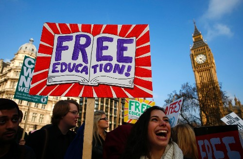 Students protest against fees and cuts in London - in pictures