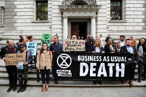 Goldman Sachs, Bank of England and Treasury targeted by climate activists in London