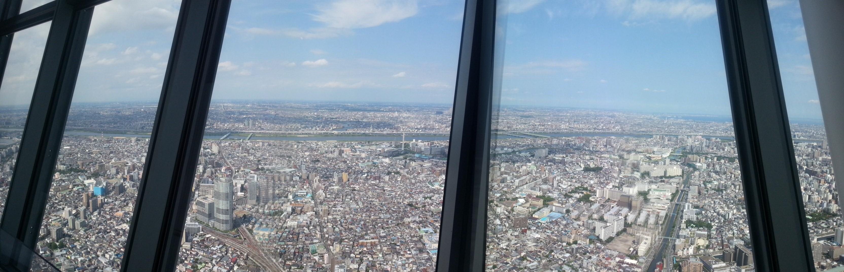 My panorama attempt at capturing the sense of a mega-city.