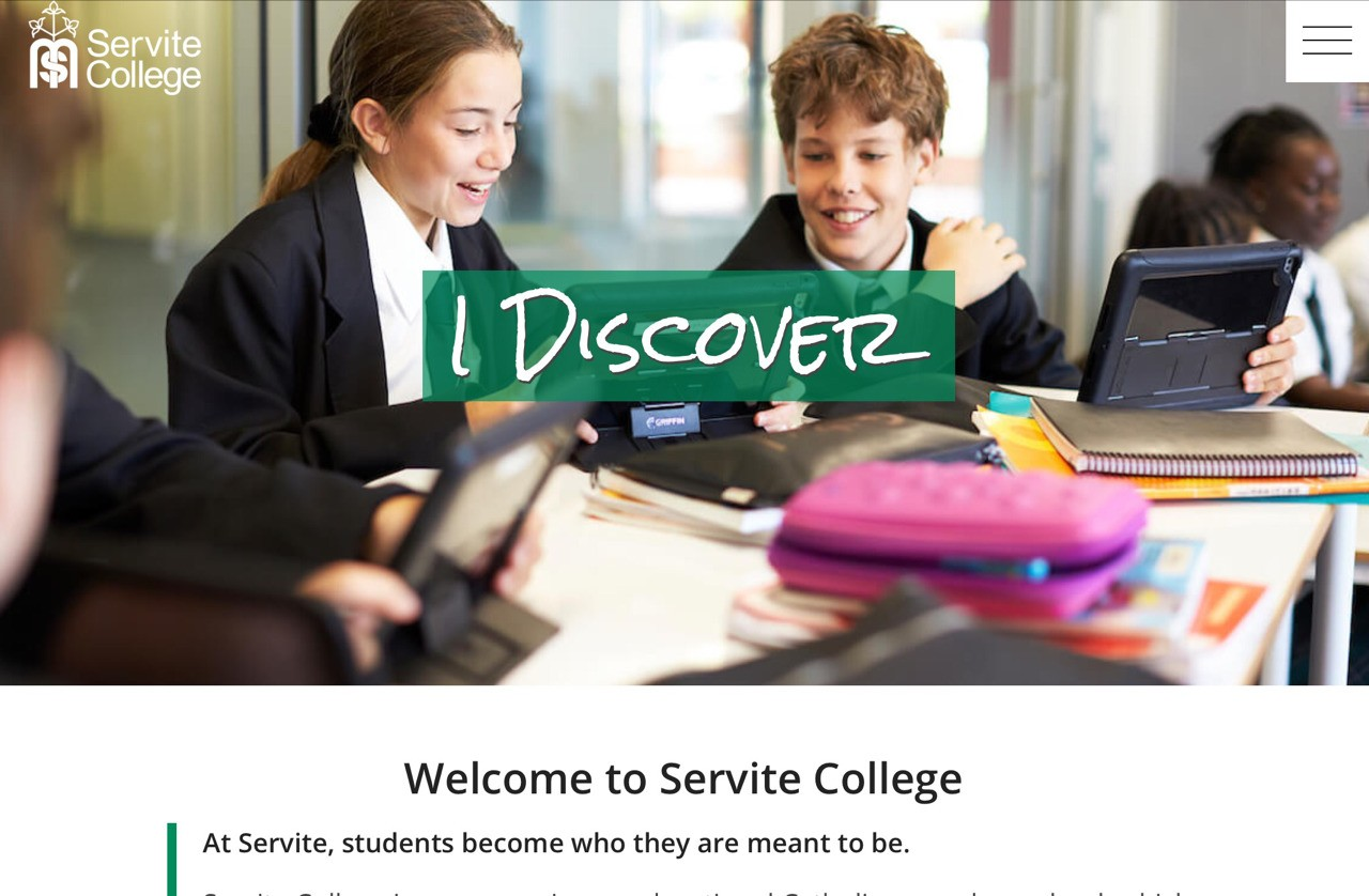 i. The Servite website has a clean look that represents the school in a good way. The website shows the viewers everything they need to know about the school and all the values that we stand for.