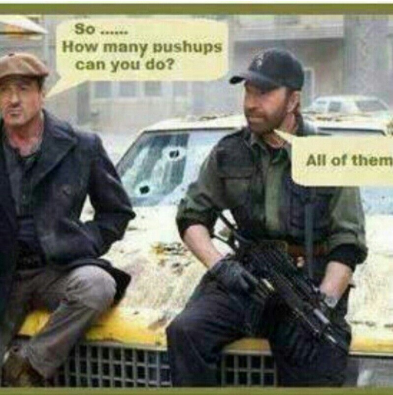 Chuck Norris always is the man, kwaaaaaaaaaks