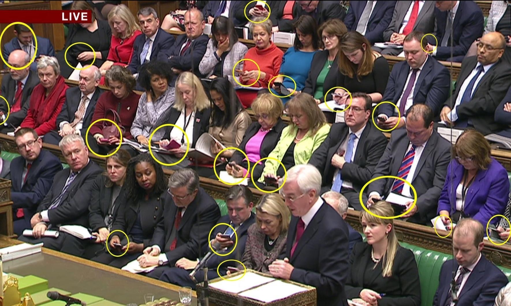 What were all those MPs doing on their phones?