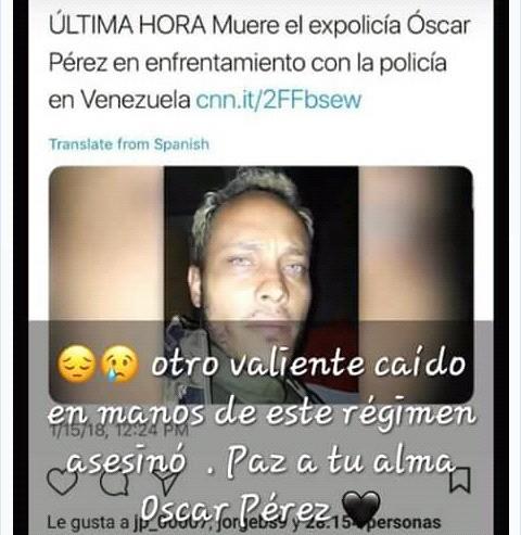Aqui en venezuela no valen los derechos humanos el quizo entregarse y no aceptaron lo mataron por que quisieron un buen hombre hijo padre esposo patriota solo dio hasta su vida.