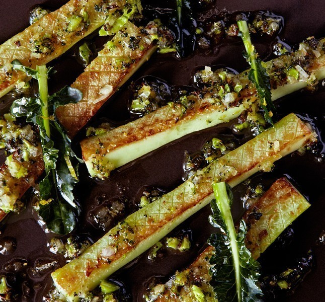 Sautéed Broccoli with Floret Vinaigrette