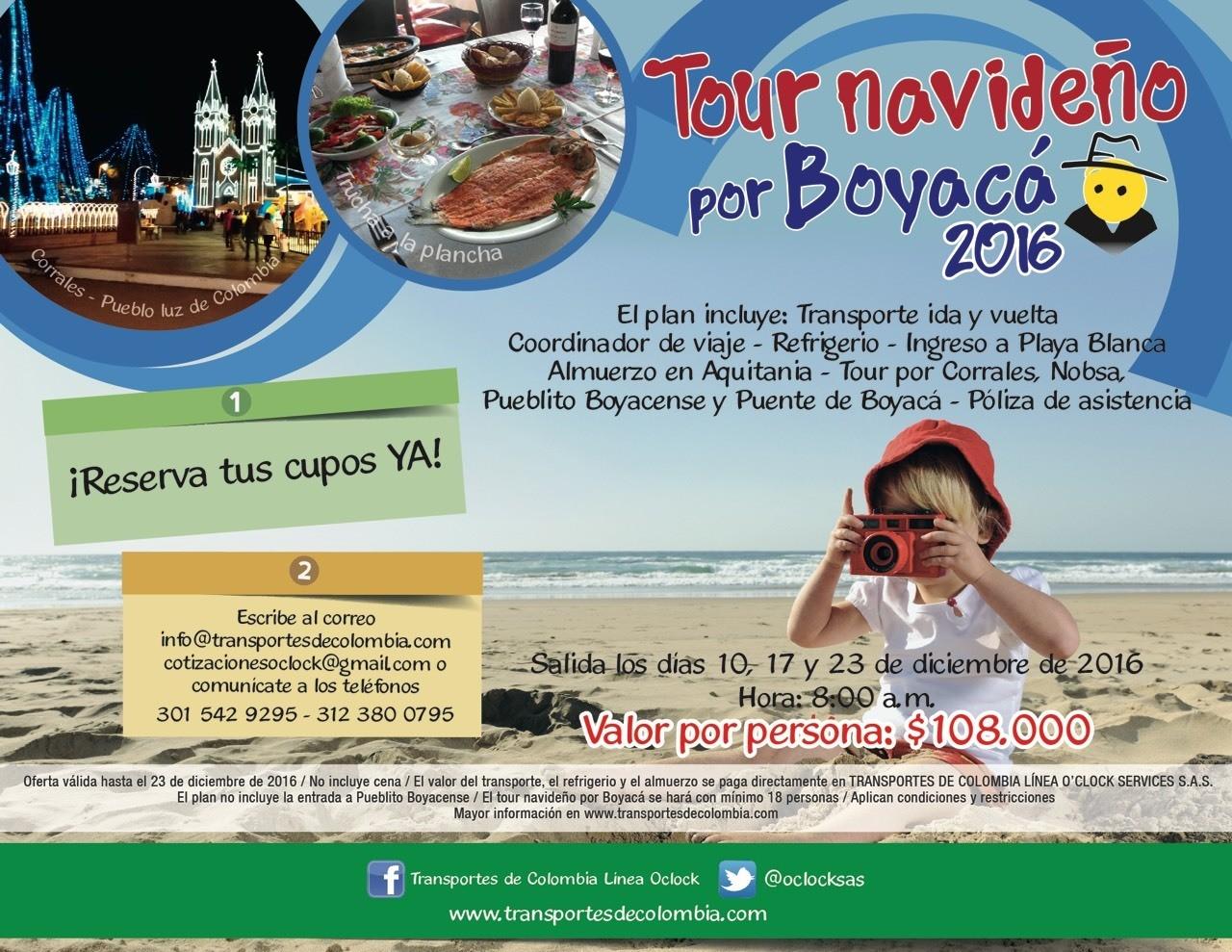 TOUR NAVIDEÑO BOYACÁ 2016