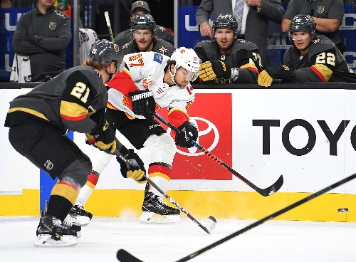 Golden Knights end skid, rout Flames