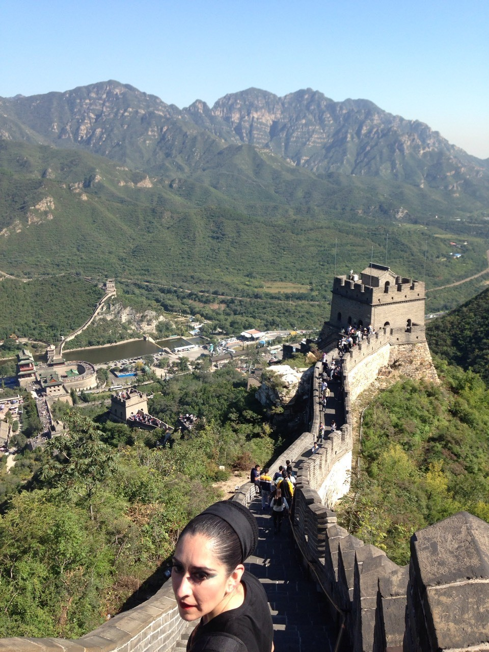 In 2015, I went on a international tour with my dance group to China. While there, we visited the Great Wall of China and performed there. The woman in the picture is my mother. - Karina, 15