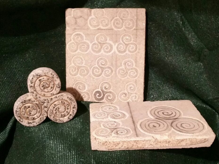 Handmade granite.