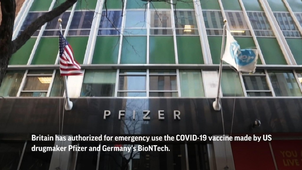 UK to begin Pfizer COVID-19 vaccine emergency use
