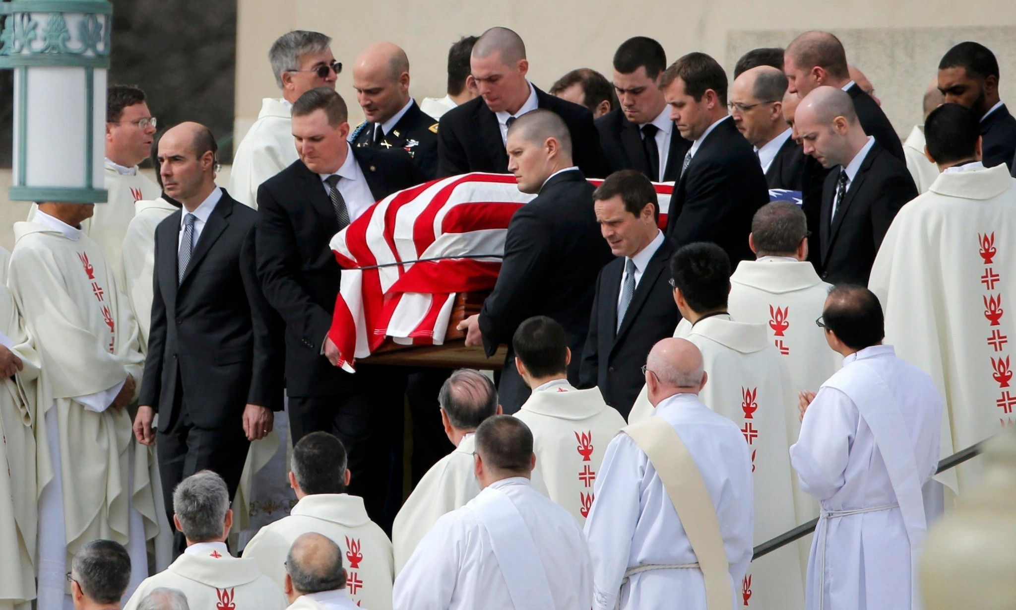 Antonin Scalia's son delivers homily in funeral mass for supreme court justice