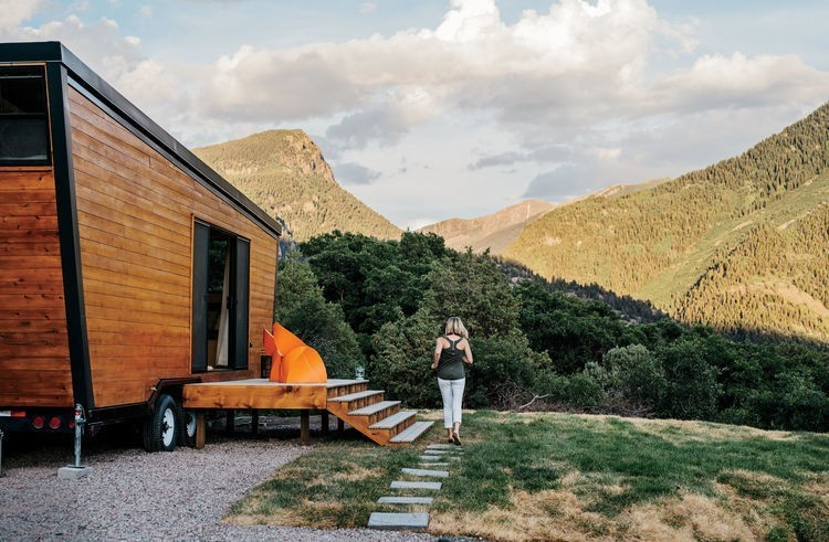 Articles about tiny diy trailer home built couple budget on Dwell.com - Dwell