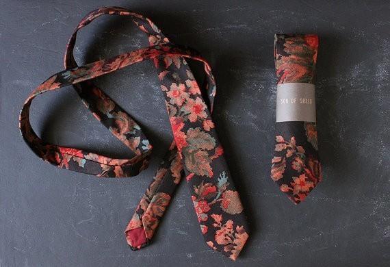 Handmade Botanical Necktie.