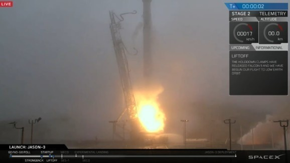 SpaceX launches its Falcon 9 rocket, but fails sea landing for the third time