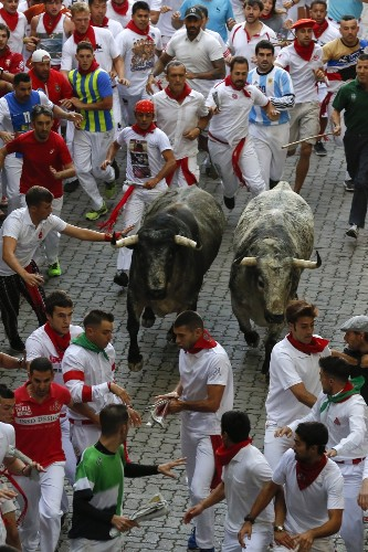 Running of the Bulls in Spain: Pictures