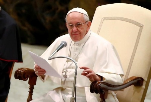Pope says 'at peace' confronting Vatican corruption, sex abuse