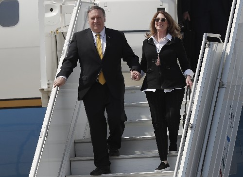 Pompeo in Lebanon to talk Hezbollah amid Golan condemnation