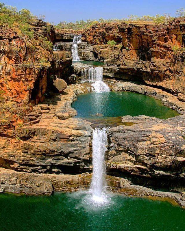 Mitchell Falls, in The Kimberley, Western Australia