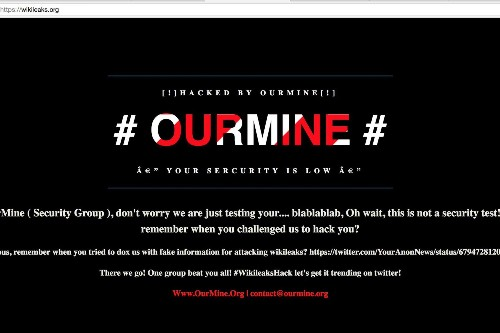 WikiLeaks website apparently hacked by OurMine