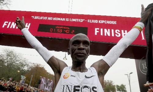 'No human is limited': Kipchoge runs sub-2 hour marathon