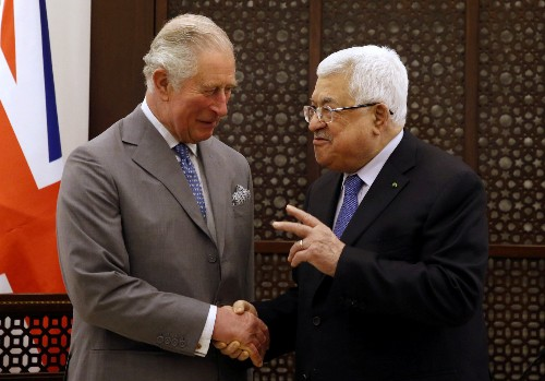 UK's Prince Charles urges Middle East peace, visits grandmother's tomb