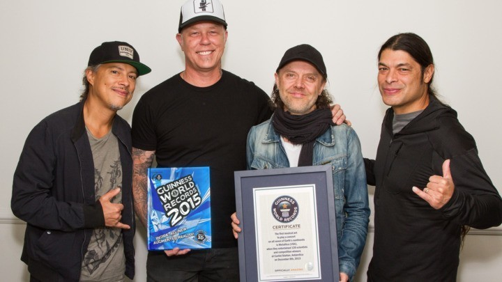 Metallica Set Guinness World Record for Touring