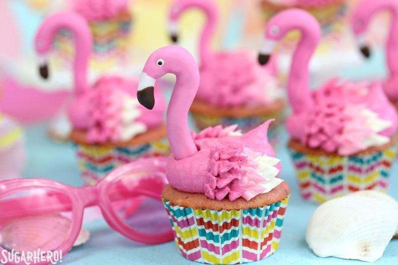 Flamingo Strawberry Cupcakes