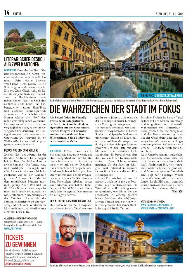 Bericht im Stadtanzeiger Winterthur