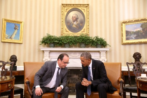 Obama, Hollande Meet to Discuss ISIS: Pictures