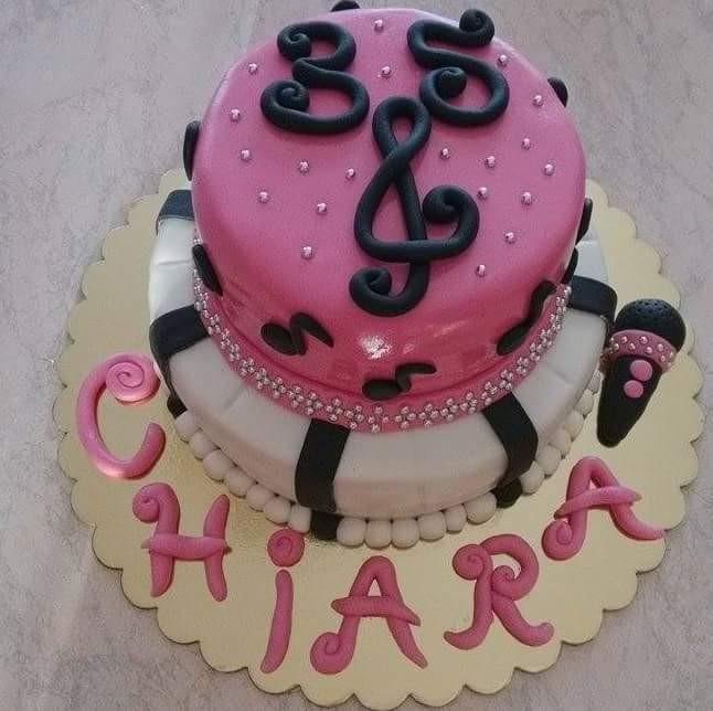 Buon venerdi' a tutti, e' in arrivo il weekend! Oggi e' il compleanno di un'amica, ecco la sua torta dello scorso anno :) #torta #musica #musicale #tortadecorata #pastadizucchero #sugarpaste #music #compleanno #birthday #mudcake #mascarpone #marmellata #fruttidibosco