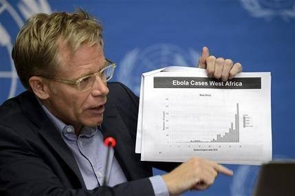 UN: Ebola disease caseload could reach 20,000