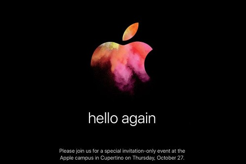 Apple's holding a Mac event on October 27th: 'hello again'