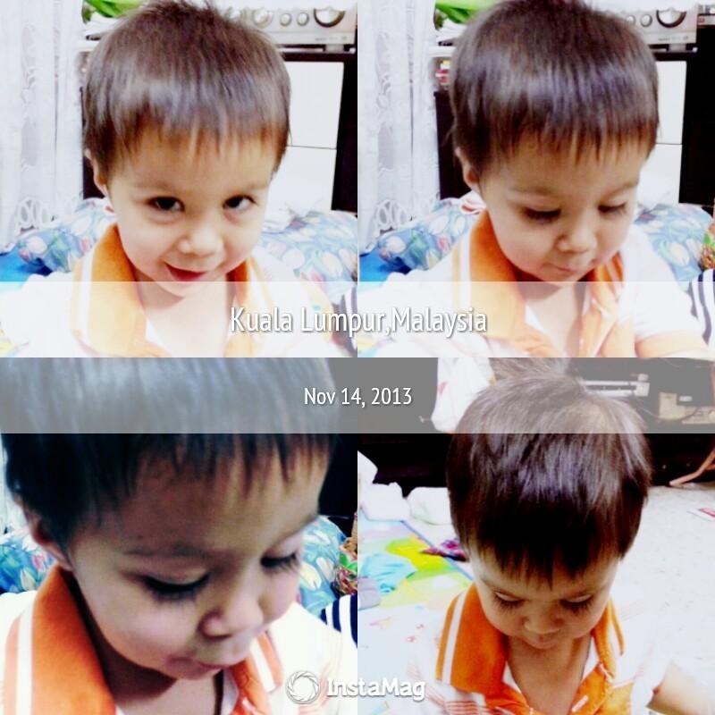 wow~ Baby Arjun have long eyelashes ��