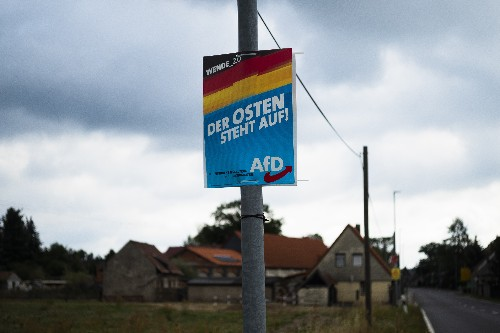 The Latest: Exit polls show far-right gains in German states