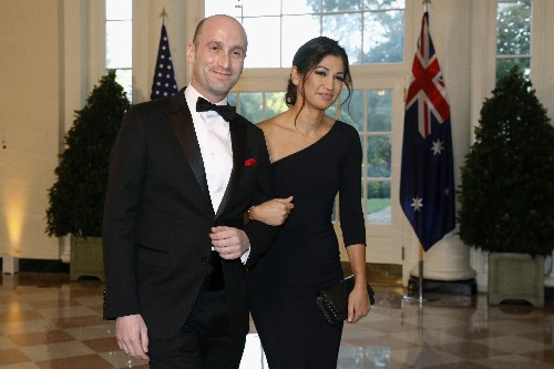 Trump attends wedding of key White House aides