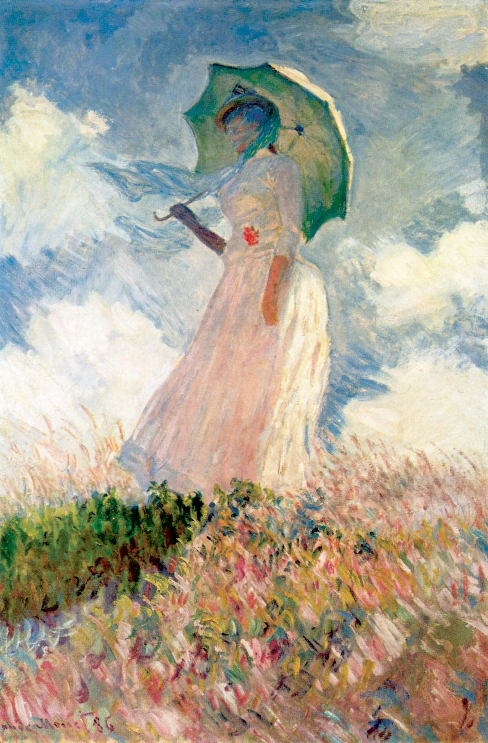 किस की नवाज़िश हुई रूखी सी ज़िन्दगी पर, हल्की की बारिश हुई सूखी सी ज़िन्दगी पर... .......तुषार गुप्ता 'My beloved wife Suzanne', 1886 Painting by Claude Monet, French, 1840 - 1926