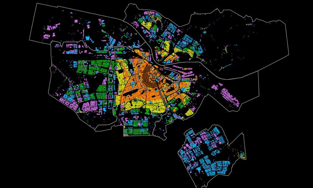 Maps reveal Amsterdam's many faces
