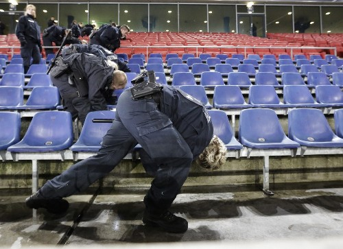 Soccer Match Cancelled in Germany: Pictures