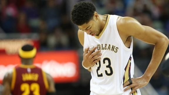 Pelicans beat Cavaliers as LeBron returns, Anthony Davis exits