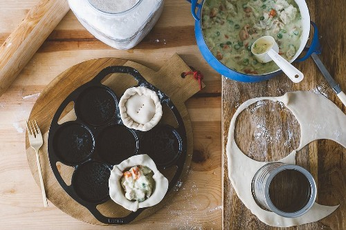 Mini chicken pot pie recipe by Molly Yeh