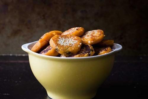 Black Sesame Sweet PotatoPancakes