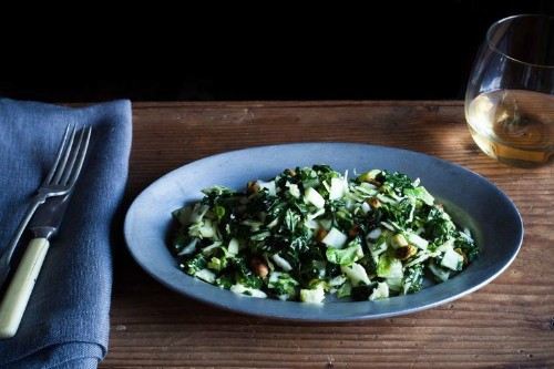 Kale, Cabbage, and Brussels Sprout ChoppedSalad