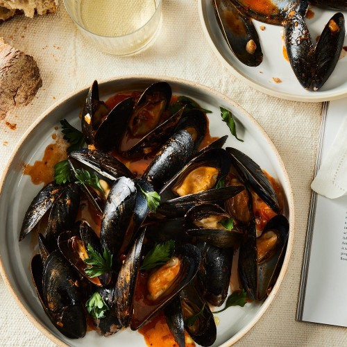 Pizza Mussels for One Recipe on Food52