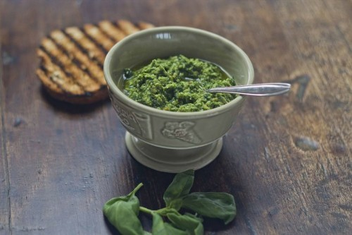 Basil and Pine Nut Sauce  (Trofie al pesto)-Liguria