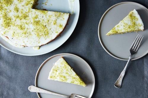 Pistachio Cake with Lemon, Cardamom, and RoseWater